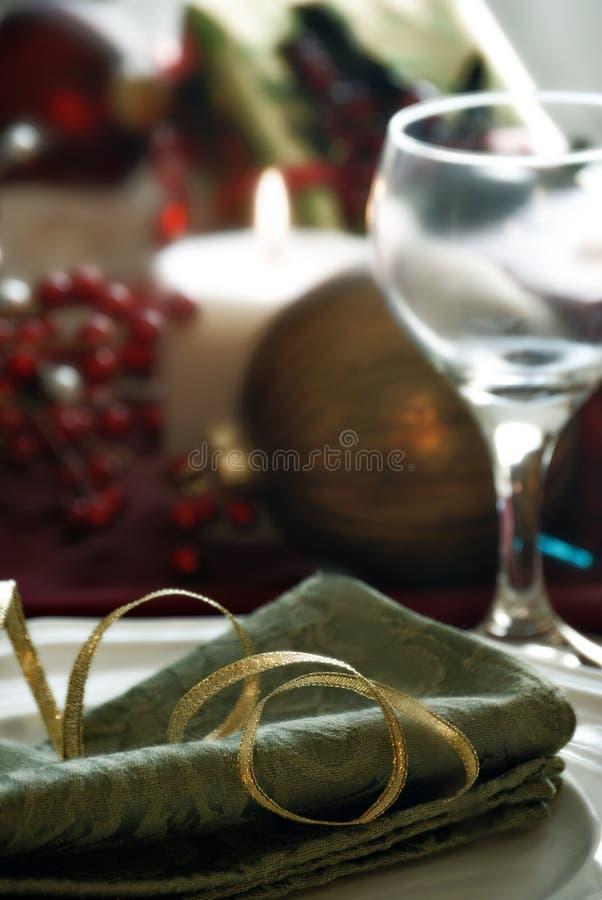 Configuration de dîner de Noël images libres de droits