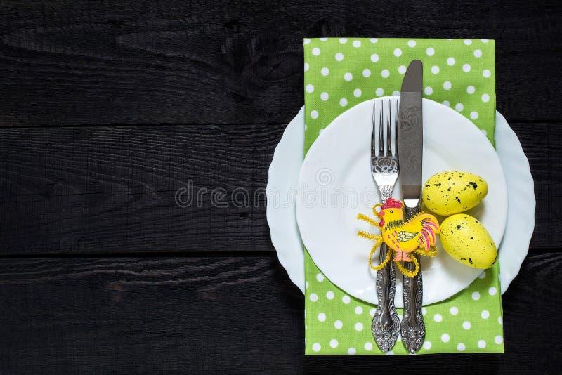 Configuration de fête de Tableau de Pâques photo libre de droits