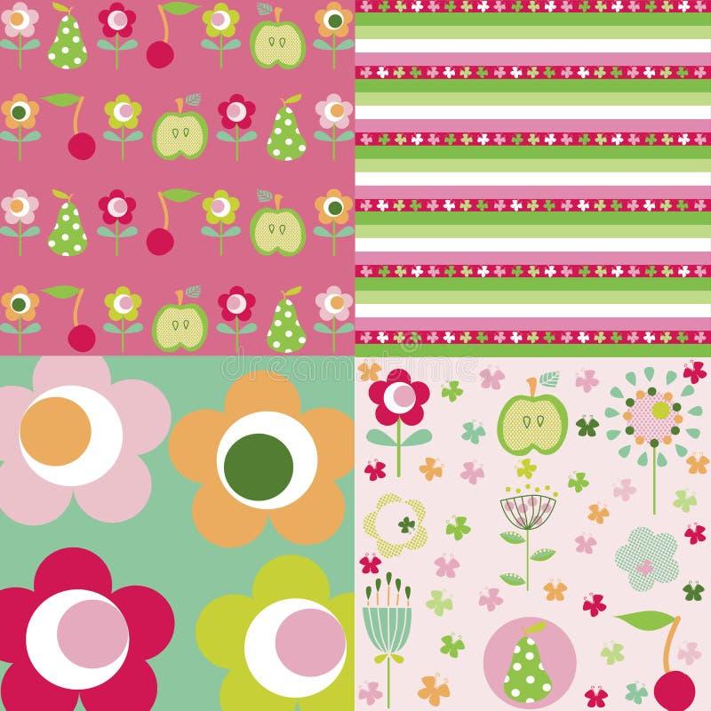 Download Configuration de fleur illustration de vecteur. Illustration du fond - 8661035