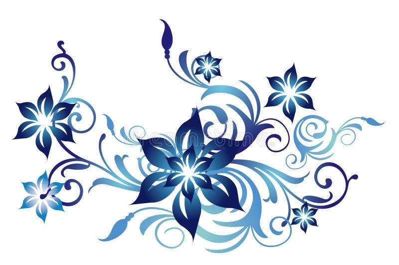 Configuration de fleur bleue illustration stock