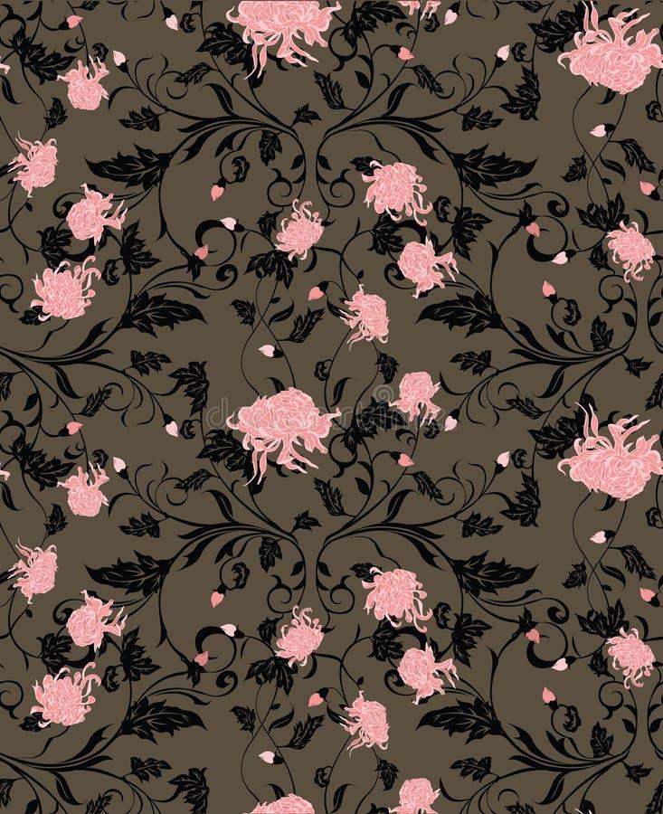 Configuration de fleur de chrysanthemum illustration de vecteur