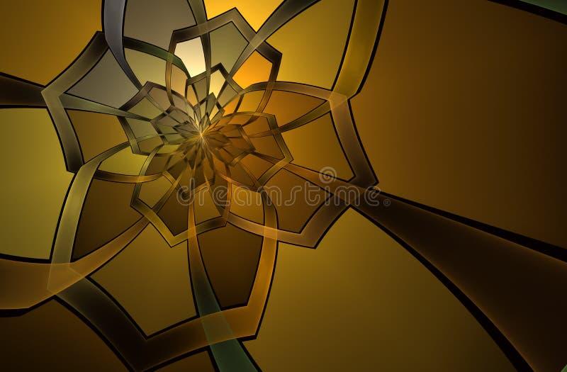 Configuration de fleur en verre de souillure abstraite illustration de vecteur