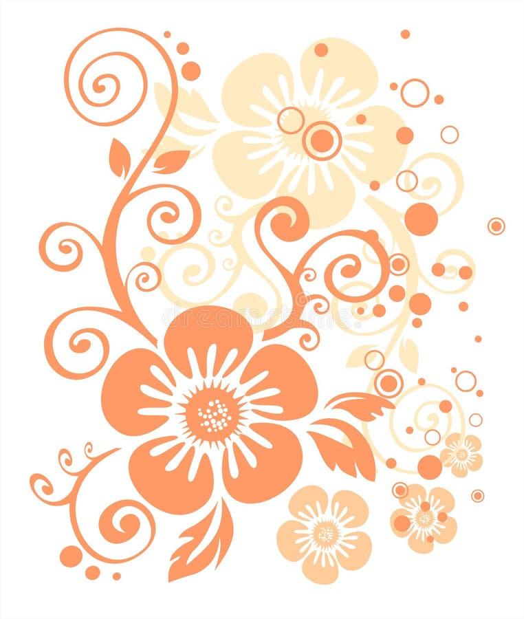 Configuration de fleur rose illustration stock