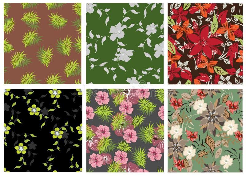 Configuration de fleurs sans joint illustration stock
