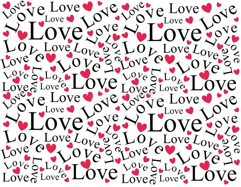 Configuration de fond d'amour et de coeurs illustration de vecteur