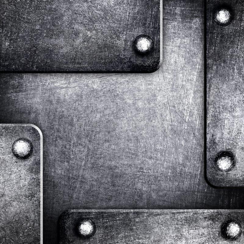 Configuration de fond en métal illustration stock