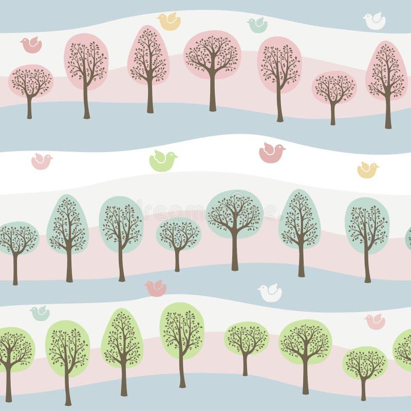 Configuration de forêt illustration de vecteur