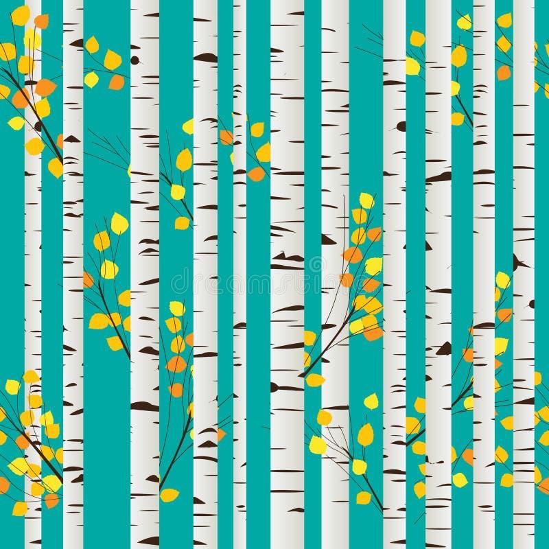 Configuration de forêt de bouleau illustration de vecteur