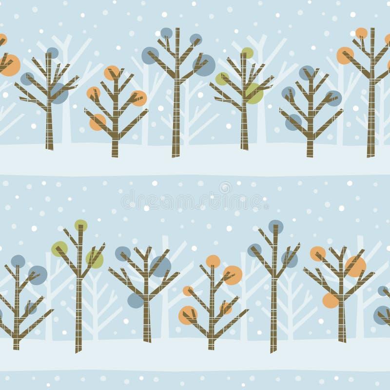 Configuration de forêt de l'hiver illustration libre de droits