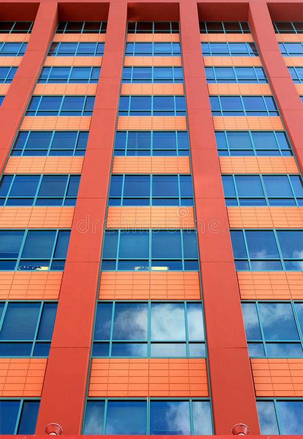 Configuration de groupe de façade de construction photo libre de droits