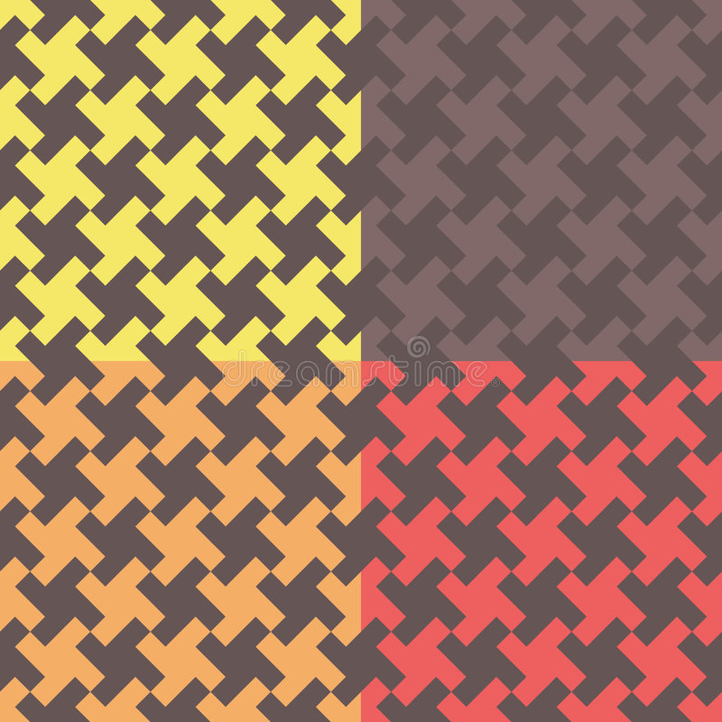 Configuration de Houndstooth illustration stock