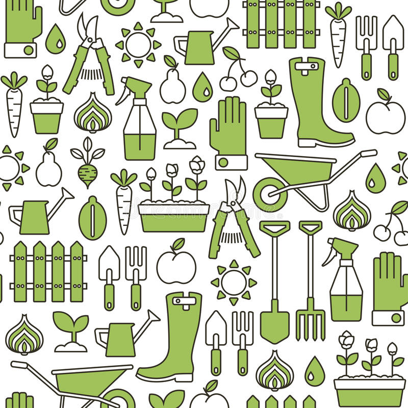 Configuration de jardinage illustration de vecteur