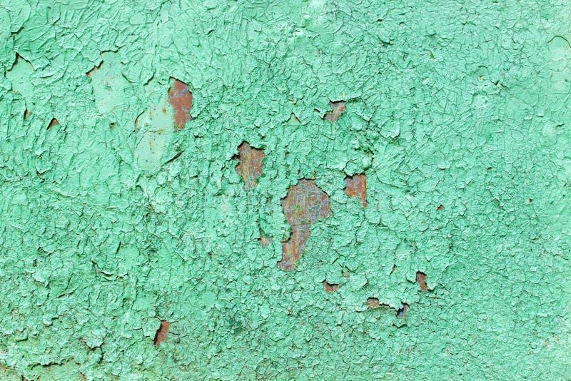 Configuration de la vieille surface peinte en métal Métal rouillé, enlevant la peinture, sons verts, couleurs lumineuses photos stock