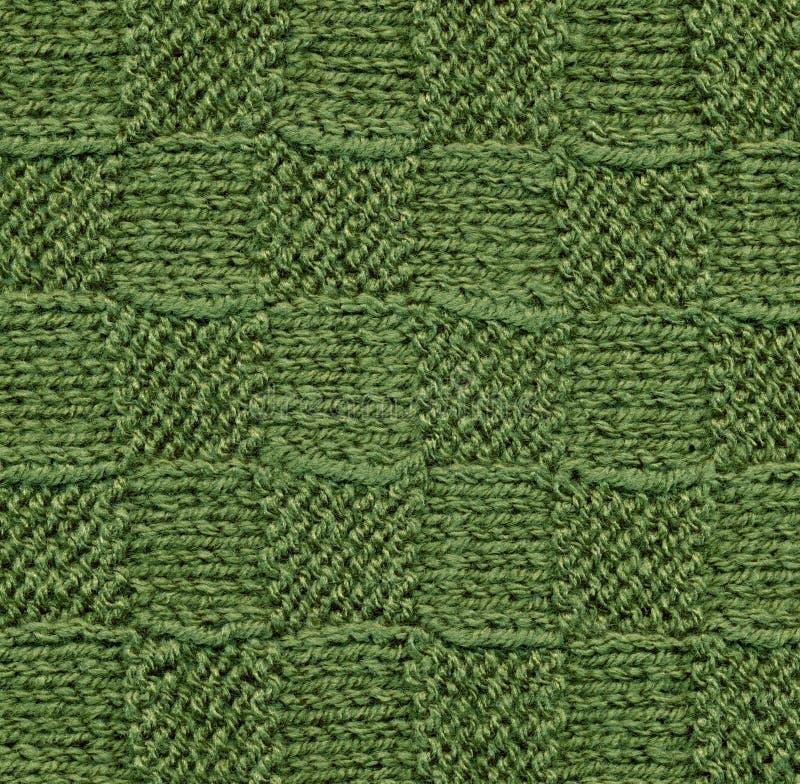 Configuration de laines tricotée par vert. image libre de droits