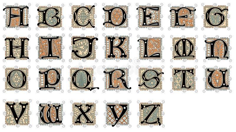 Configuration de lettre et de fleur illustration stock