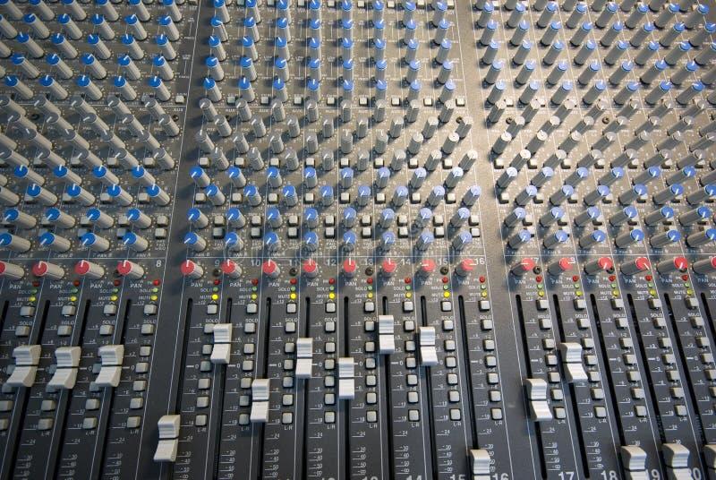 Configuration de Mixingdesk images libres de droits