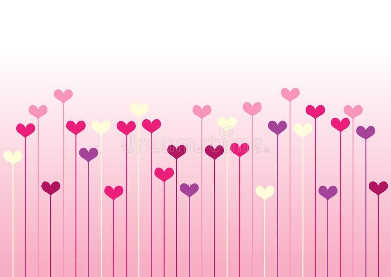 configuration de mosaïque colorée de coeurs illustration stock