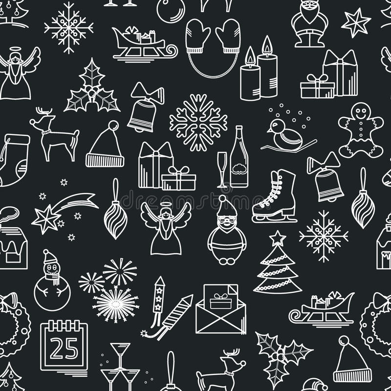 Configuration de Noël illustration de vecteur