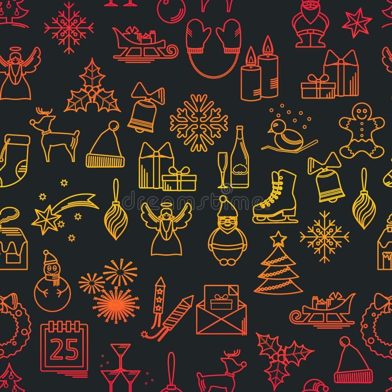 Configuration de Noël illustration stock