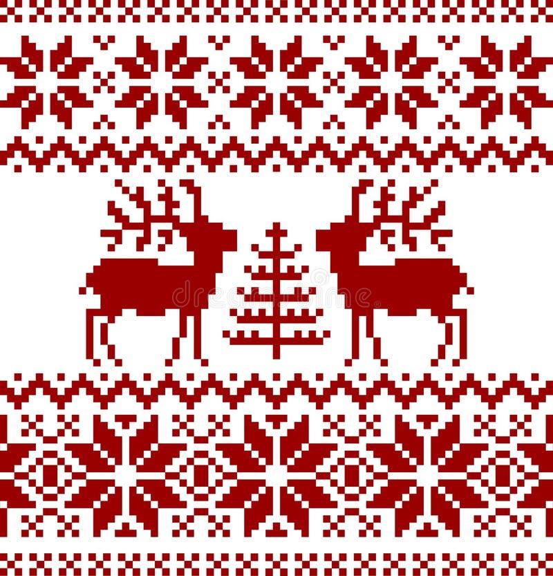 Configuration de Norvégien de Noël illustration de vecteur