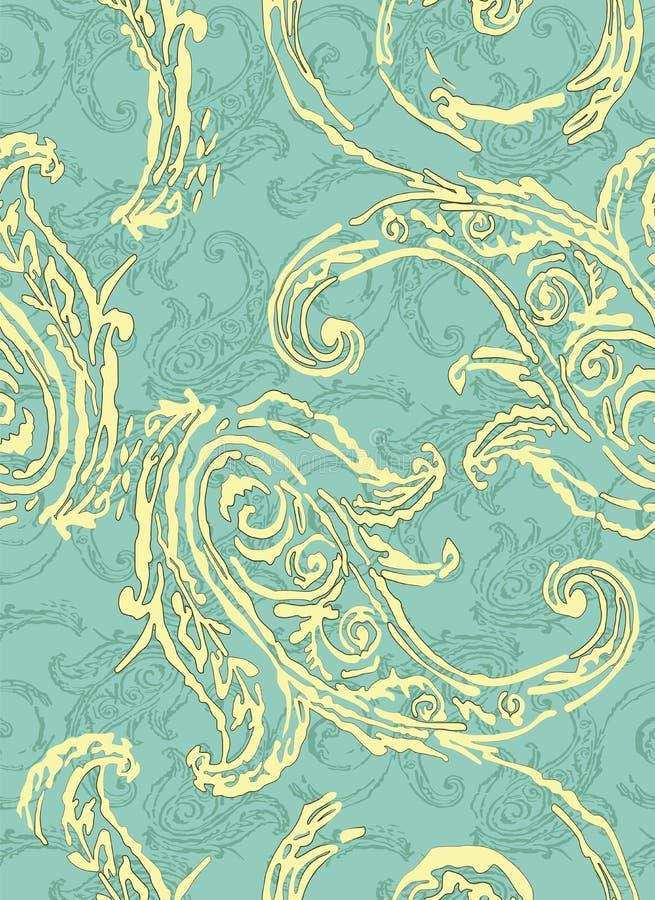Configuration de Paisley Éléments ethniques traditionnels Concombre turc d'ornement sans couture Motifs asiatiques pour la mode,  illustration de vecteur