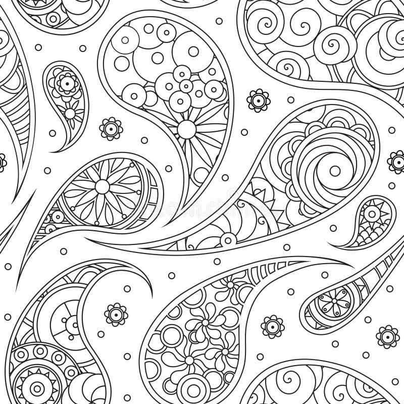 Configuration de Paisley illustration de vecteur
