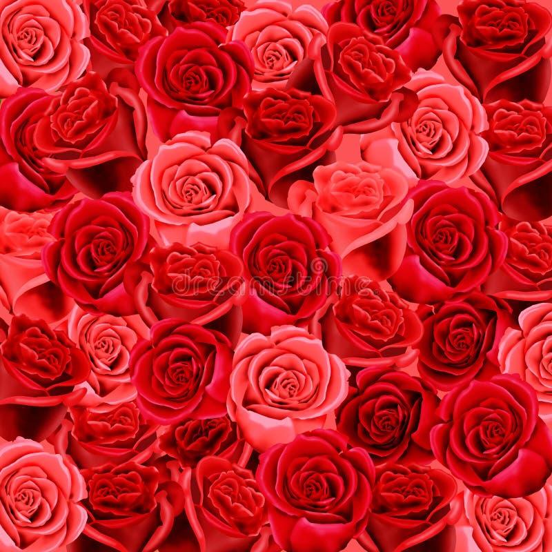 Configuration de papier peint de roses photo stock
