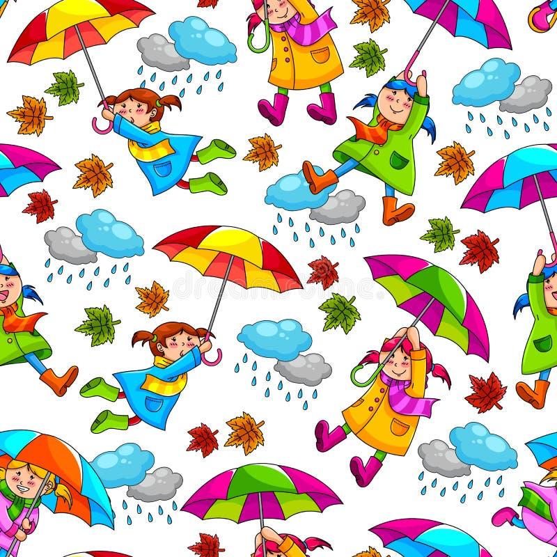 Configuration de parapluies illustration libre de droits