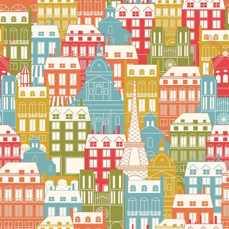 Configuration de paysage urbain de Paris illustration stock