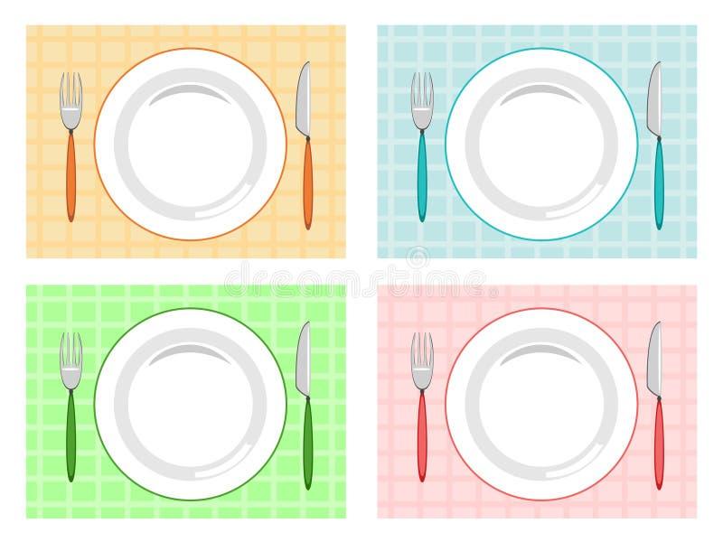 Configuration de place illustration stock