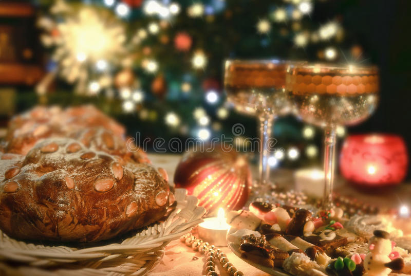 Configuration de place de Noël photographie stock