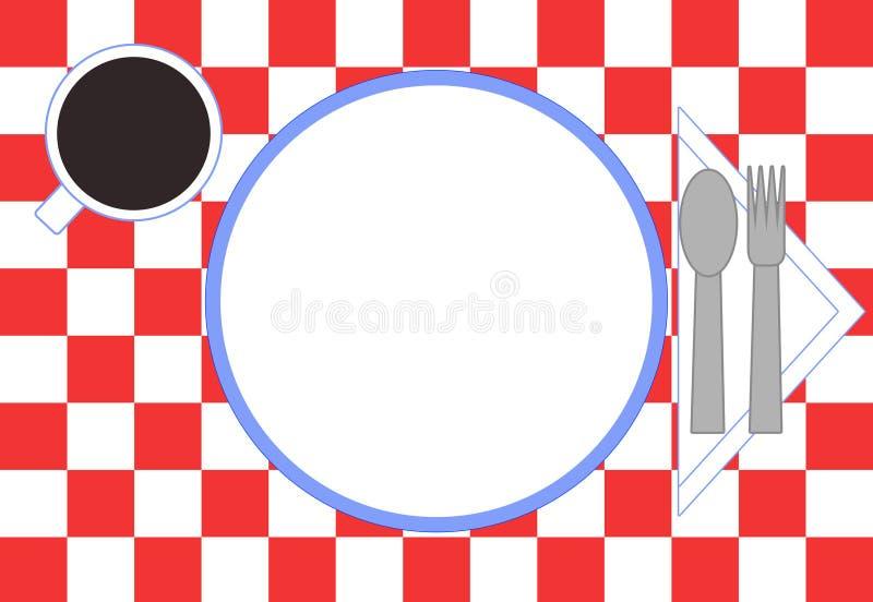 Configuration de place de restaurant illustration de vecteur