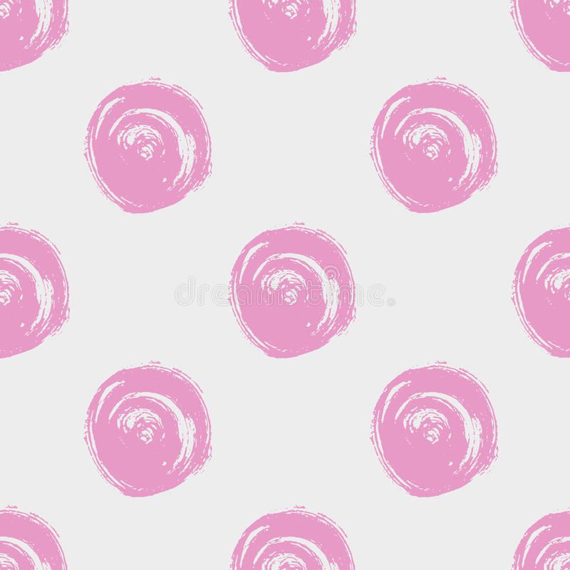 configuration de point sans joint Cercles peints à la main avec les bords approximatifs Séchez l'illustration d'encre de brosse illustration stock