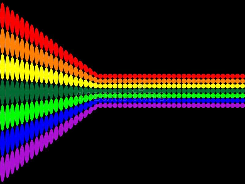 Configuration de points d'arc-en-ciel de vecteur illustration stock
