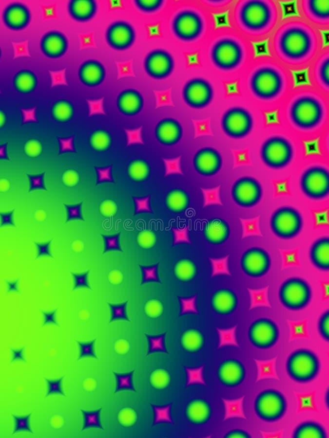 Configuration de points de polka d'amusement rétro illustration stock