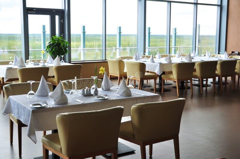 Configuration de restaurant photo stock
