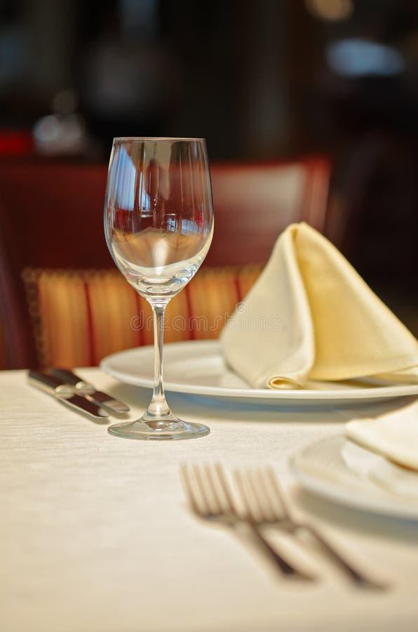 Configuration de restaurant photographie stock