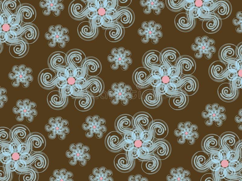 Configuration De Snowflower De L Hiver Photo stock