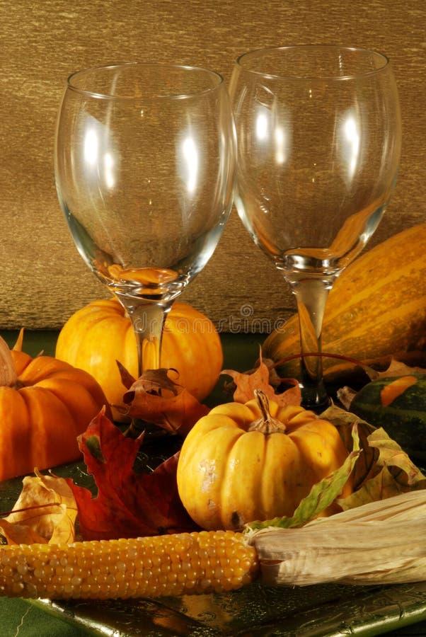 Configuration de table d'automne photo libre de droits
