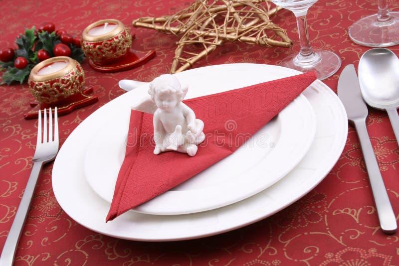 Configuration de table de Noël photographie stock