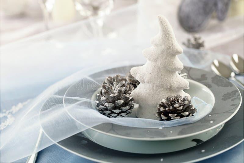 Configuration de table de Noël photographie stock libre de droits