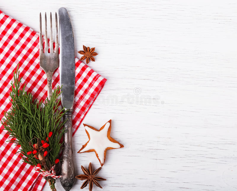 Configuration de table de Noël images libres de droits