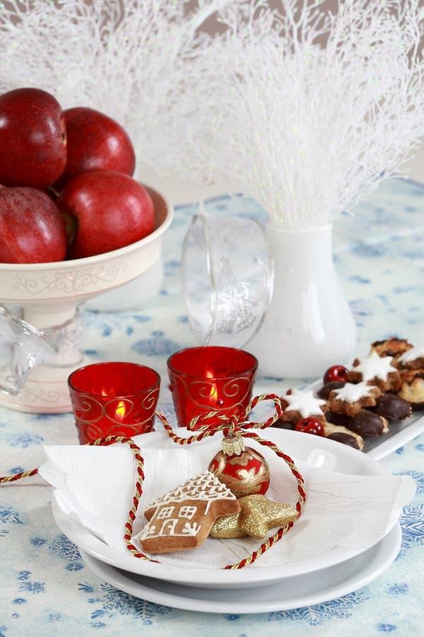 Configuration de table de Noël image stock