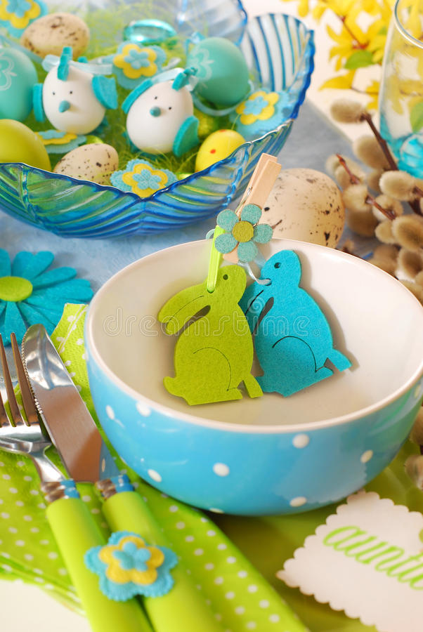 Configuration de table de Pâques photos stock
