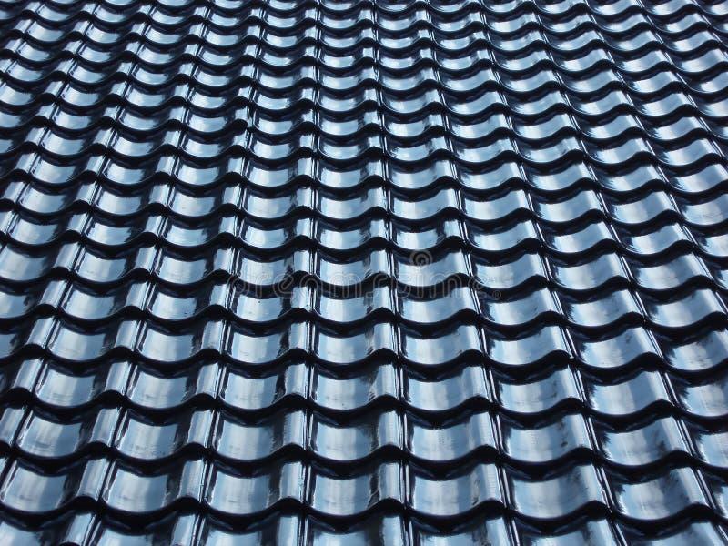 Configuration de toit carrelé noir photo libre de droits