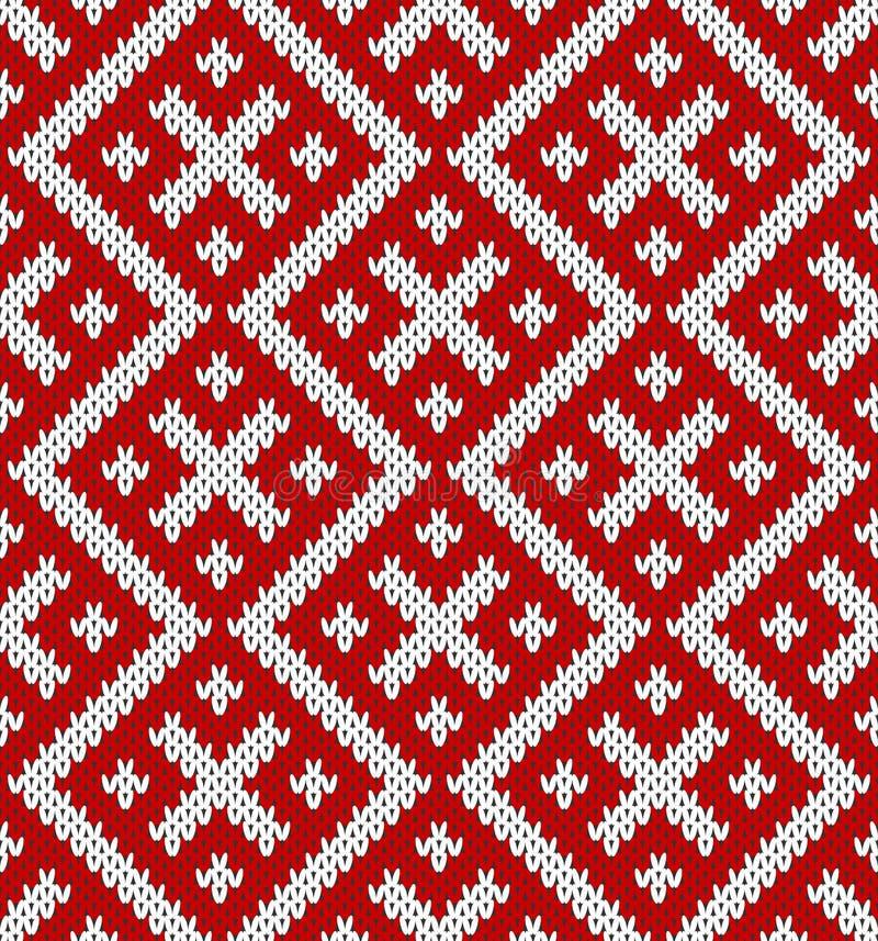 Configuration de tricotage sans joint Basé sur l'ornement russe traditionnel illustration libre de droits