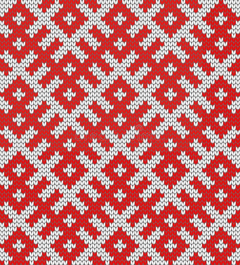 Configuration de tricotage sans joint Basé sur l'ornement russe traditionnel illustration stock