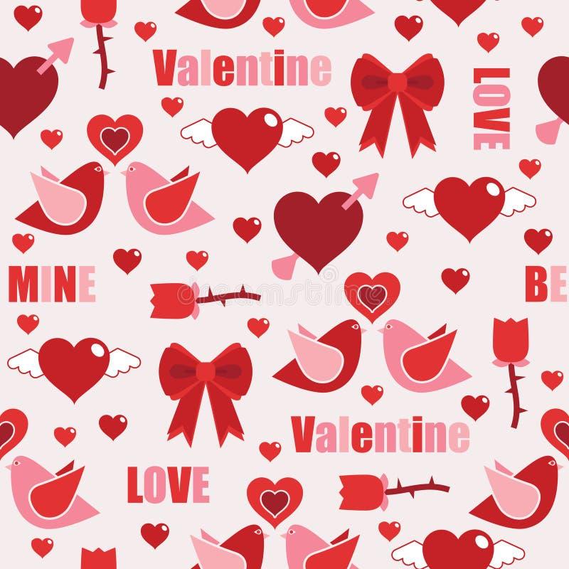 Configuration de Valentine illustration de vecteur