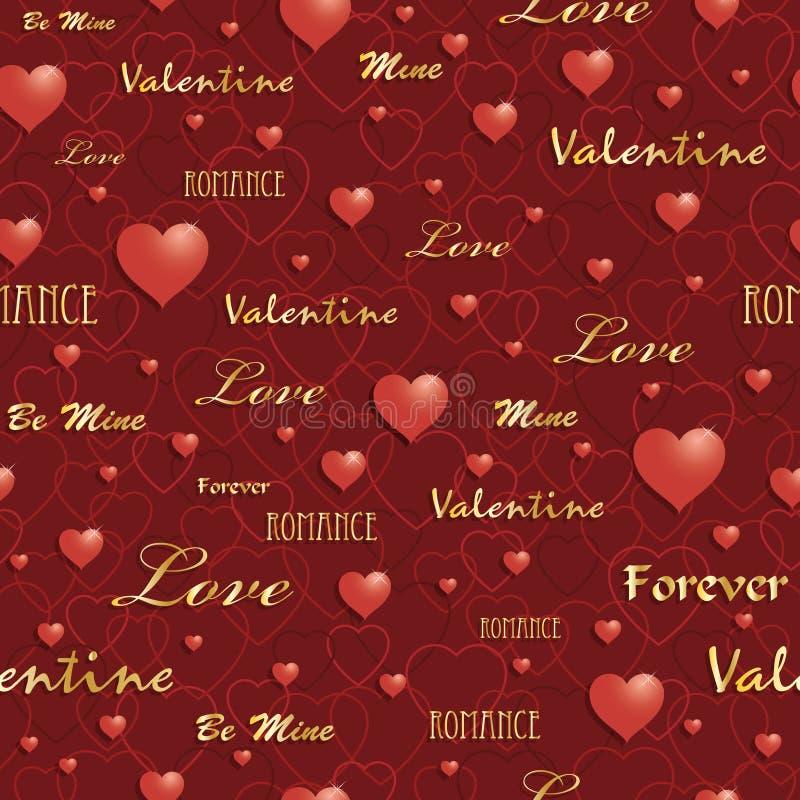 Configuration de Valentine illustration stock