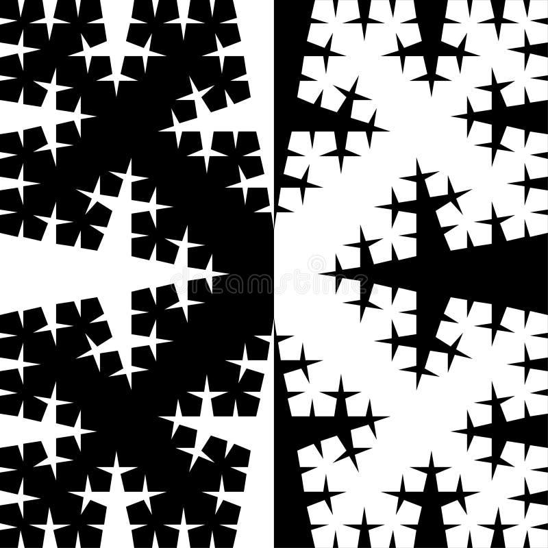 Configuration de vecteur d'arbre de fractale illustration de vecteur